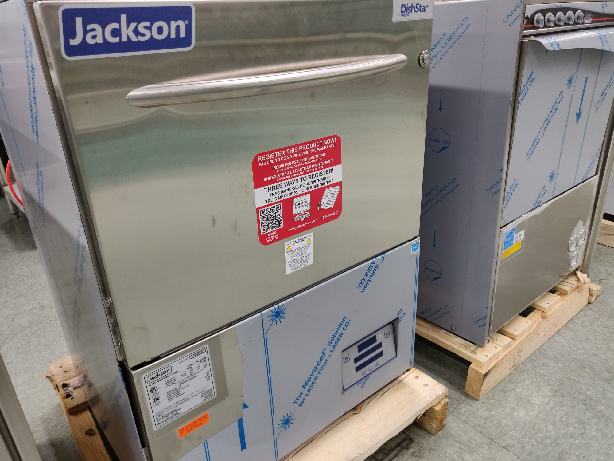 Jackson Dishwashers in MaxChef warehouse