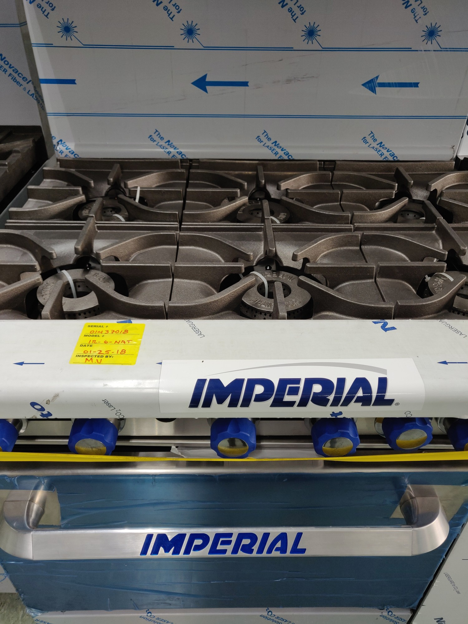 Imperial cooking range in MaxChef warehouse