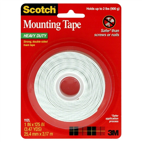 3M - Double Sided Foam Mounting Tape - 112L, From The Product Category Tape & Fasteners