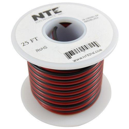 NTE - WIRE-SPKR 14/2 BLK/RED 25FT (W142BR-25)