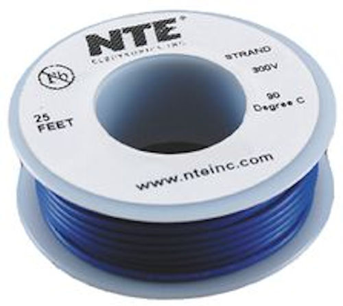 NTE - HOOK-UP WIRE 20GA BLU 25FT (WH20-06-25)