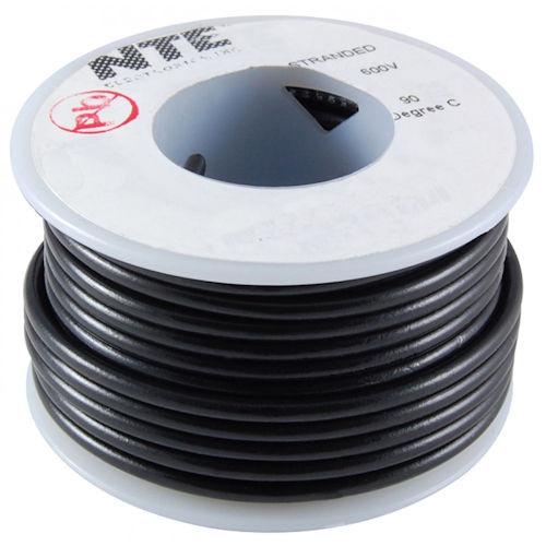 NTE - WIRE-24GA BLK SLD 25FT (WHS24-00-25)