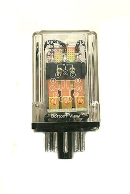 OMRON - RELAY PWR 3PDT 10A 12VAC (MK3EP-UA-AC12)