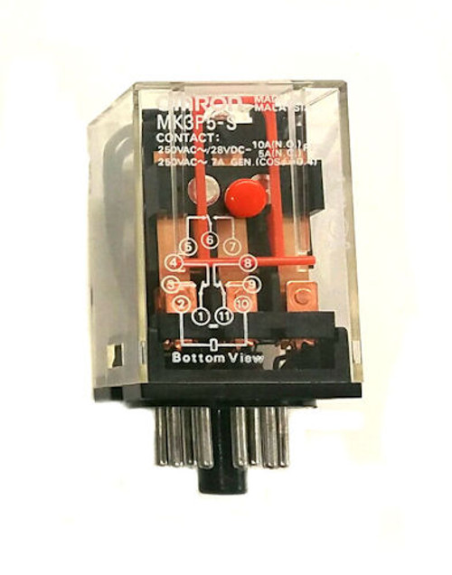 OMRON - RELAY 3PDT 10A 6VAC (MK3P5S-AC6)