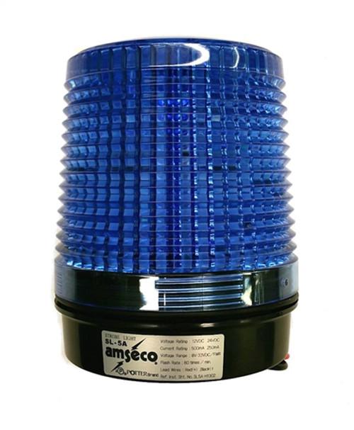 POTTER ELEC SIGNAL - 12/24VDC 4 WIRE STROBE, BLUE LENS (SL-5ABLU)