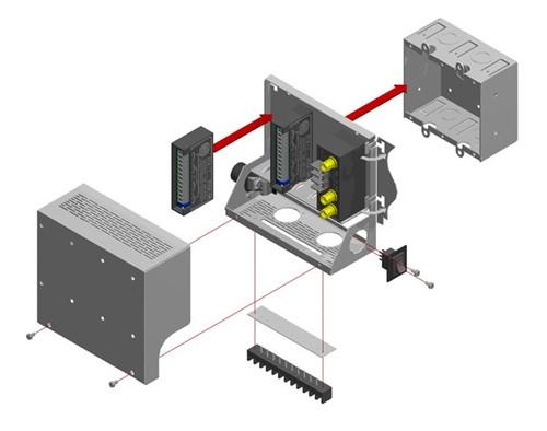 RADIO DESIGN LABS - MOUNTING FRAME FOR STICK-ON (SR-4)