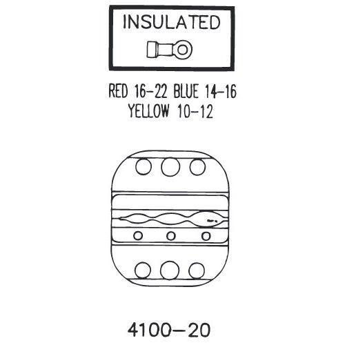 SARGENT - INSULATED TERMINAL DIE SET 22-10AWG (4100-20)