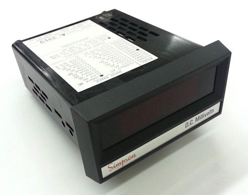 SIMPSON - DIGITAL PANEL METER 2865 0-200 DCMV, 120 VAC, RED (24500)