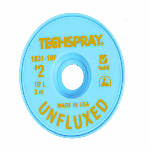 TECH SPRAY - UNFLUXED WICK YELLOW #2 A/S (1831-10F)