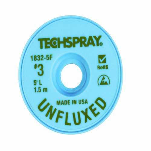 TECH SPRAY - UNFLUXED WICK GREEN #3 A/S (1832-5F)