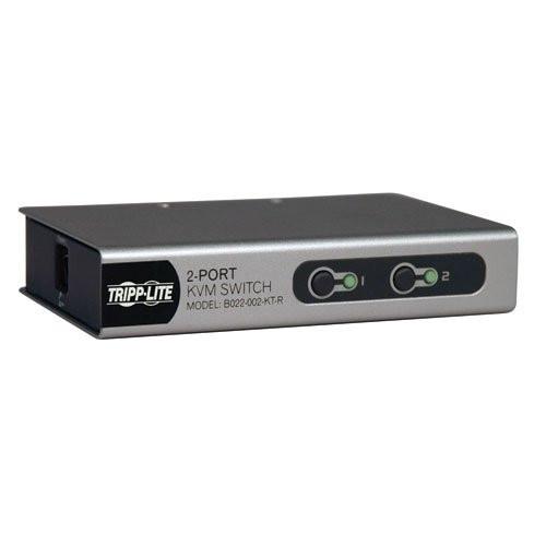 TRIPP LITE - 2-Port Desktop KVM Switch with 2 KVM Cable Kits (PS2) (B022-002-KT-R)