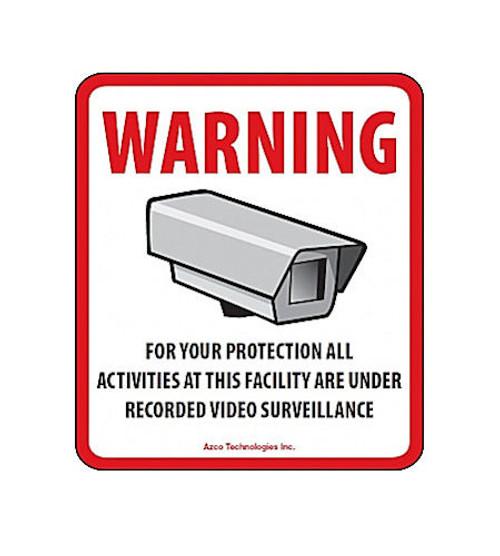 Azco - CCTV Decal Pkg/10 (Azd-CCTV), From the product category Azco Technologies Inc