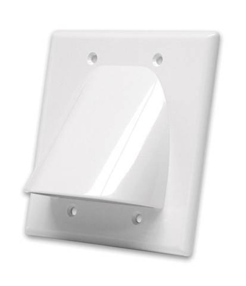 white bulk cable wall plate