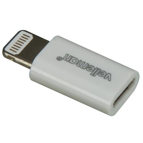 VELLEMAN - IPHONE5 MIC-USB/LIGTNG 8P MALE (PCMP63)