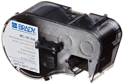 BRADY - TAPE BLK/WHT 11/32 X 7FT (MC-187-342)