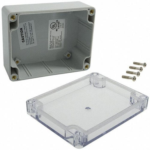BUD - PLASTIC NEMA BOX, CLEAR CVR-PC (PN-1323-C)