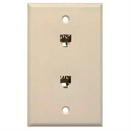 Waldom - White Dual Wall Jack 4C (30-9713), From the product category Waldom