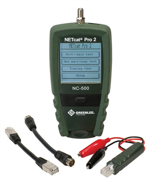 Greenlee - Netcat&Reg, Pro Vdv Tester, 9 Volt Alkaline Battery, 128 X 128 Dots Lcd, R (Nc-500), From the product category Greenlee