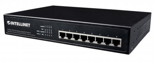 INTELLINET - 8-PORT GIGABIT ETHERNET POE+ SWITCH (560641)