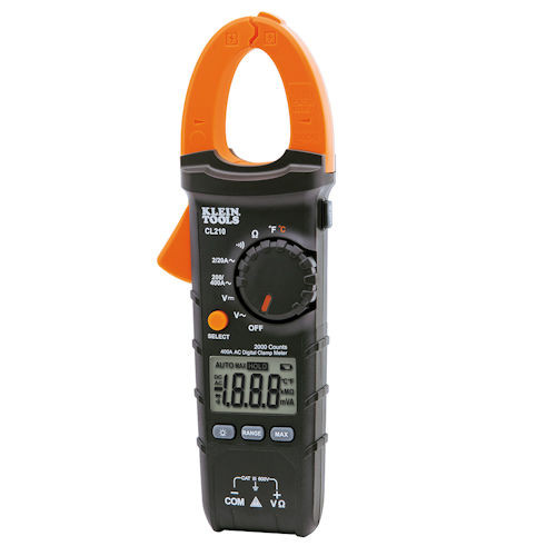 digital clamp meter, AC auto ranging with temp