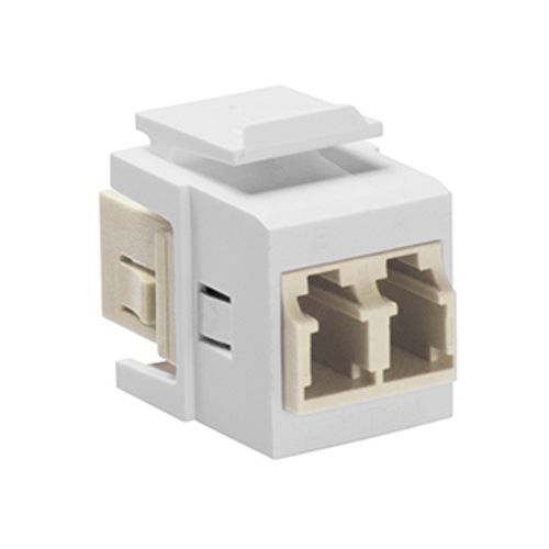 white, quickport duplex LC adapter