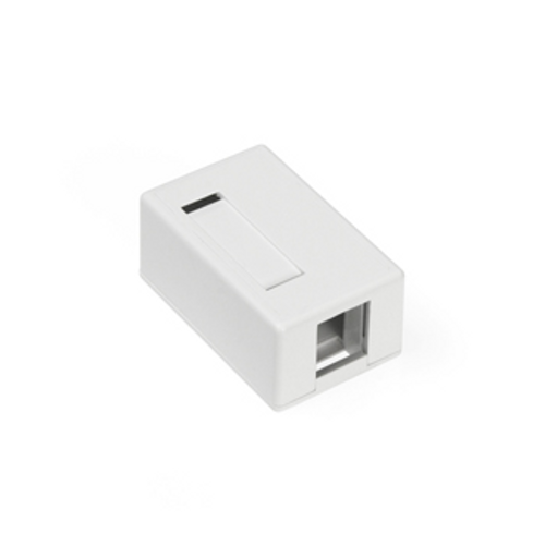 white, surface-mount quickport box 1 port
