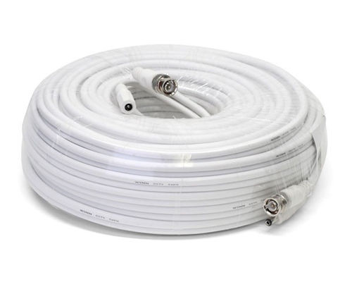 white, 50ft CCTV power/video cable