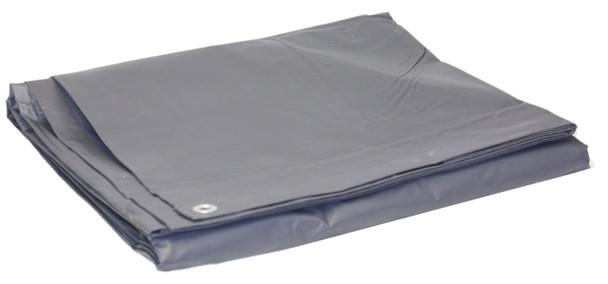 Heavy Duty Vinyl Tarp 10oz Grey w/ Grommets Truck Covers PVC Coated Polyester