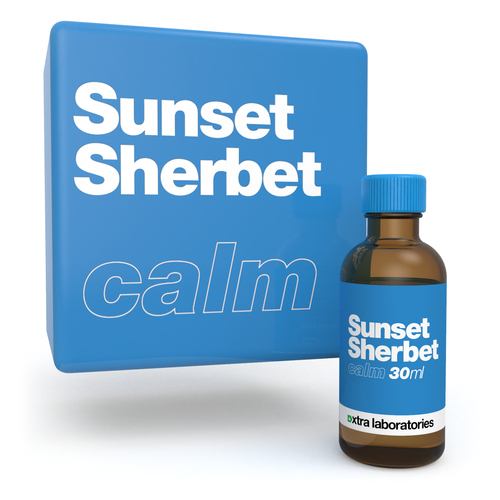 Sunset Sherbet strain specific terpenes by xtra laboratories