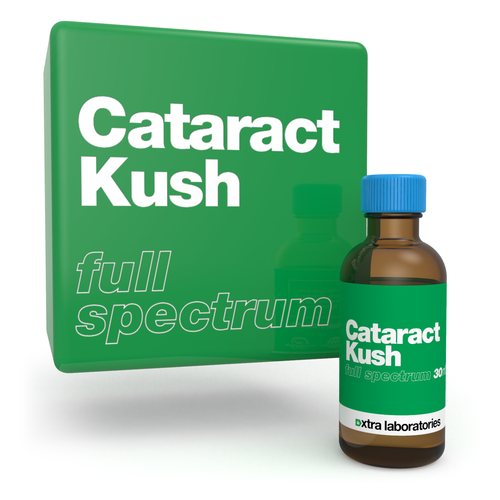 Cataract Kush full spectrum terpene blend by xtra laboratories