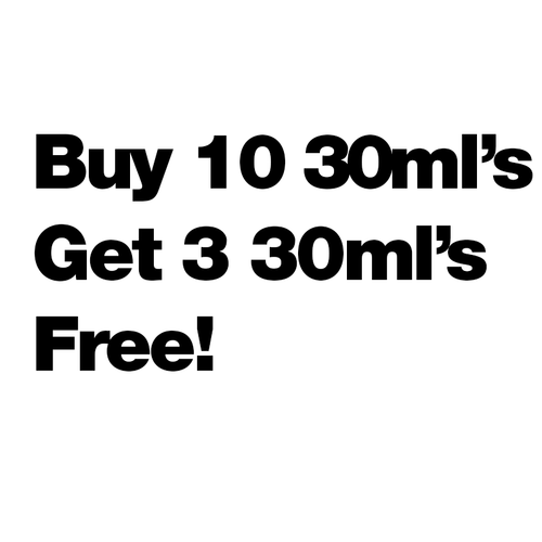 Buy 10 30ml's Get 3 Free - $4.61/ml