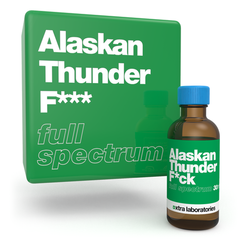 Alaskan Thunder Fuck strain specific full spectrum terpene blend by xtra laboratories