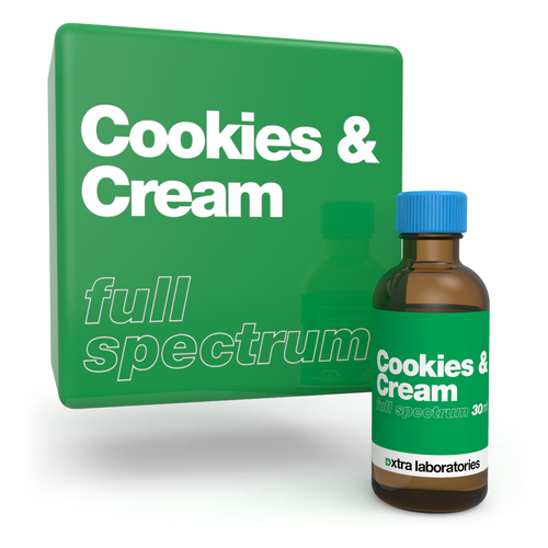 Cookies & Cream full spectrum terpene blend by xtra laboratories
