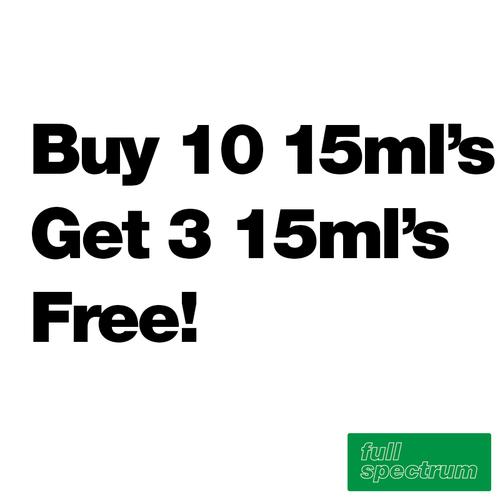 Buy 10 15ml's Get 3 Free - Full Spectrum - $8.20/ml