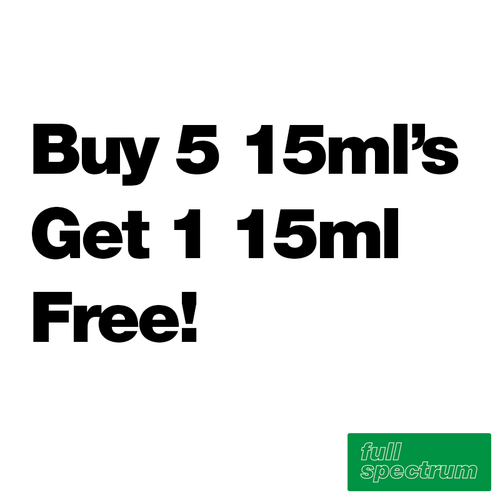 Buy 5 15ml's Get 1 Free - Full Spectrum - $8.88/ml