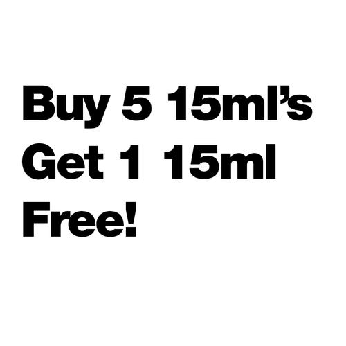 Buy 5 15ml's Get 1 Free $5.83/ml