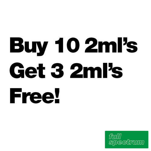 Buy 10 2ml's Get 3 Free - Full Spectrum - $13.46/ml