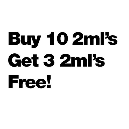 Buy 10 2ml's Get 3 Free - $9.62/ml