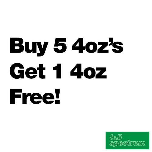 Buy 5 4oz's Get 1 Free - Full Spectrum - $6.07/ml