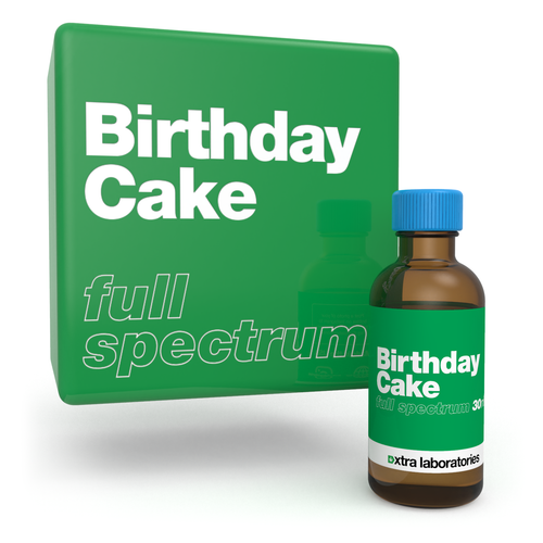 Birthday Cake full spectrum strain specific terpene blend by xtra laboratories
