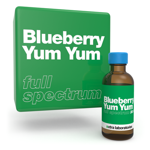 Blueberry Yum Yum full spectrum strain specific terpene blend by xtra laboratories
