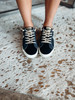 Black Leopard Check Sneakers