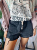 BLK Party Girl Distressed Denim Shorts