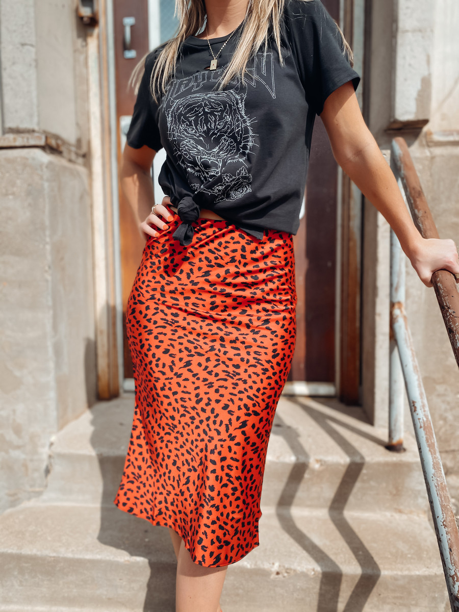 Spotted Maxi Skirt