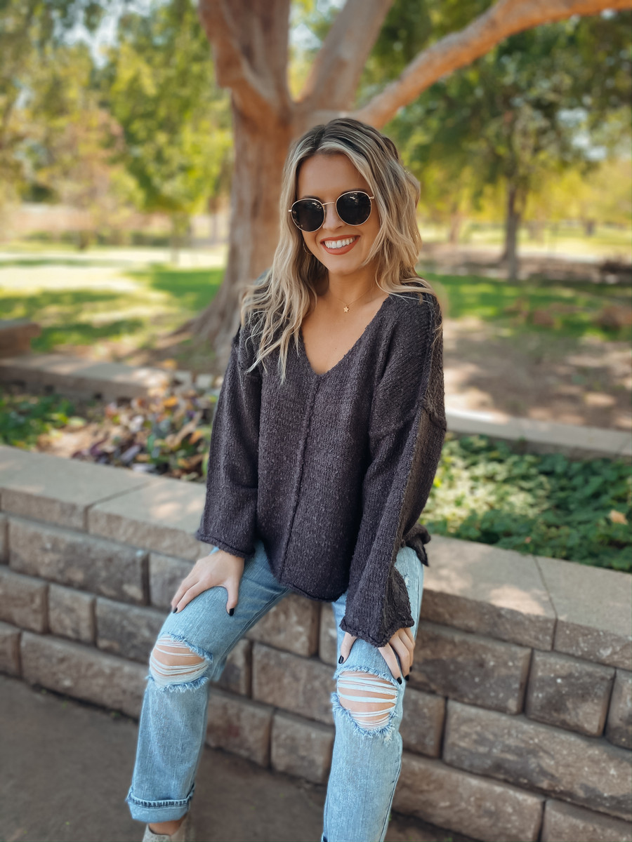 Charcoal Pumpkin Patch Cutie Top