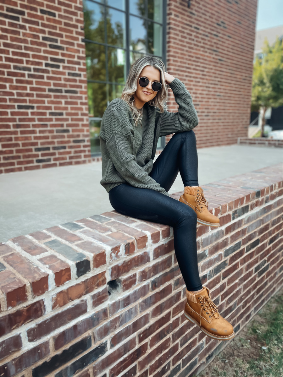 Olive Hello Fall Sweater