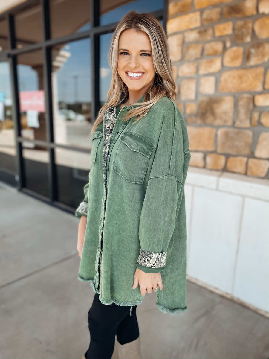 Olive Slithering Into Fall Top