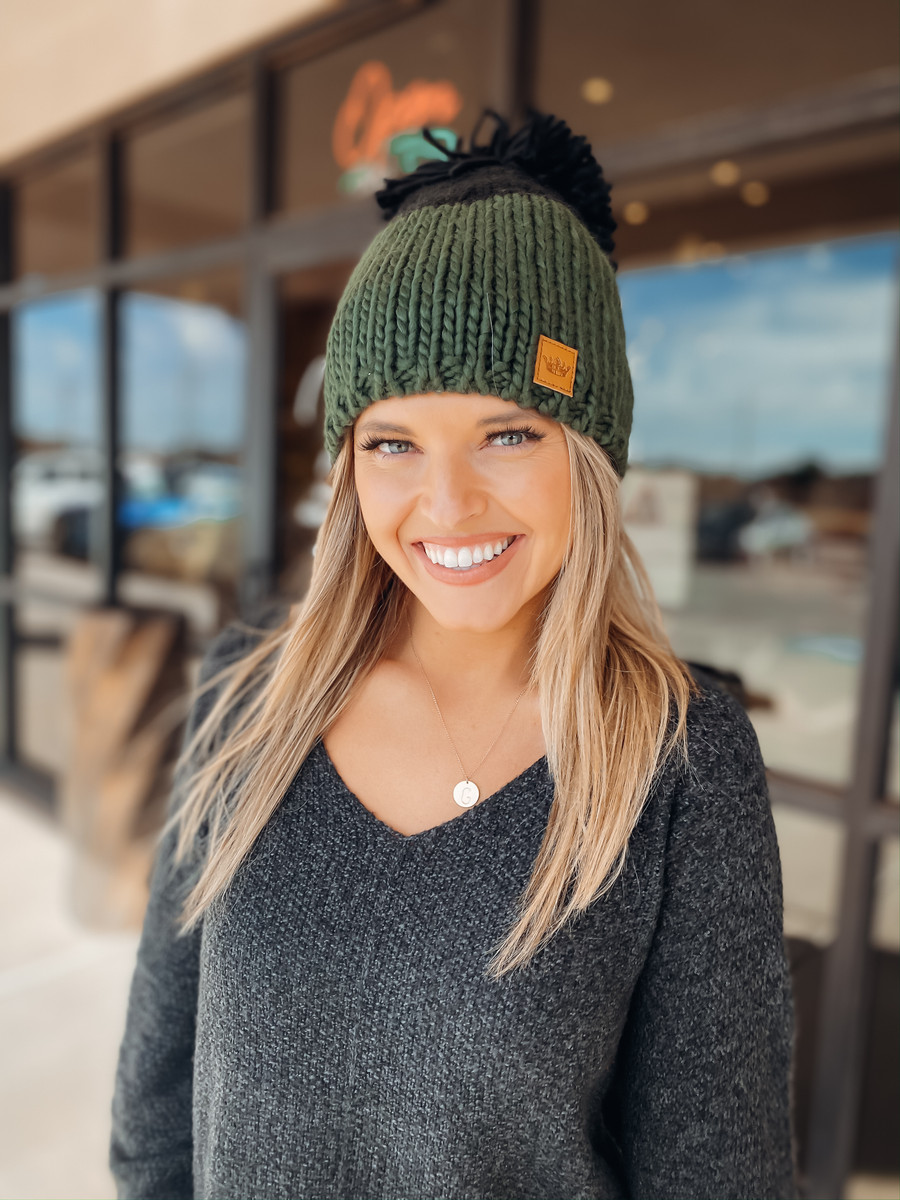 Colorblock Cable Knit Beanie