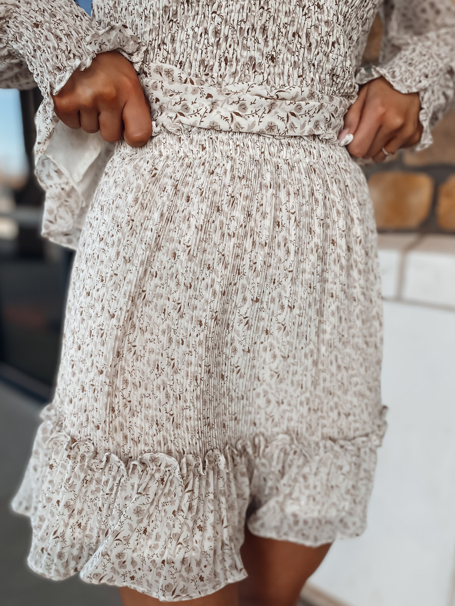 Love You More Pleated Skirt
