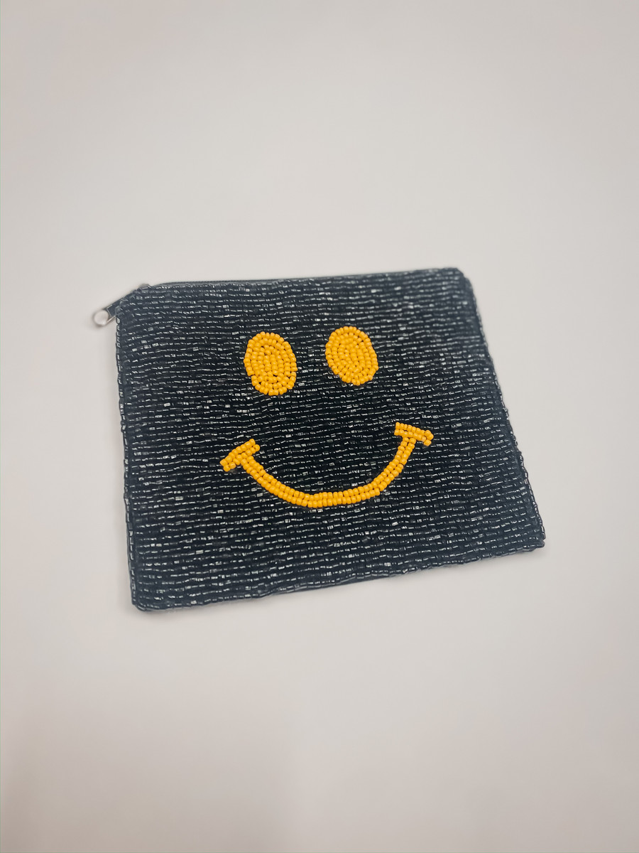 Smile Beaded Pouch